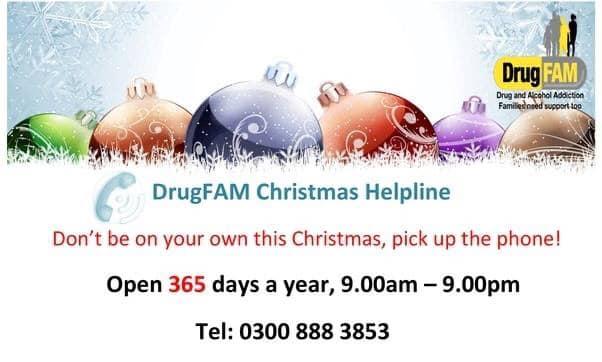 DrugFAM Christmas Helpline