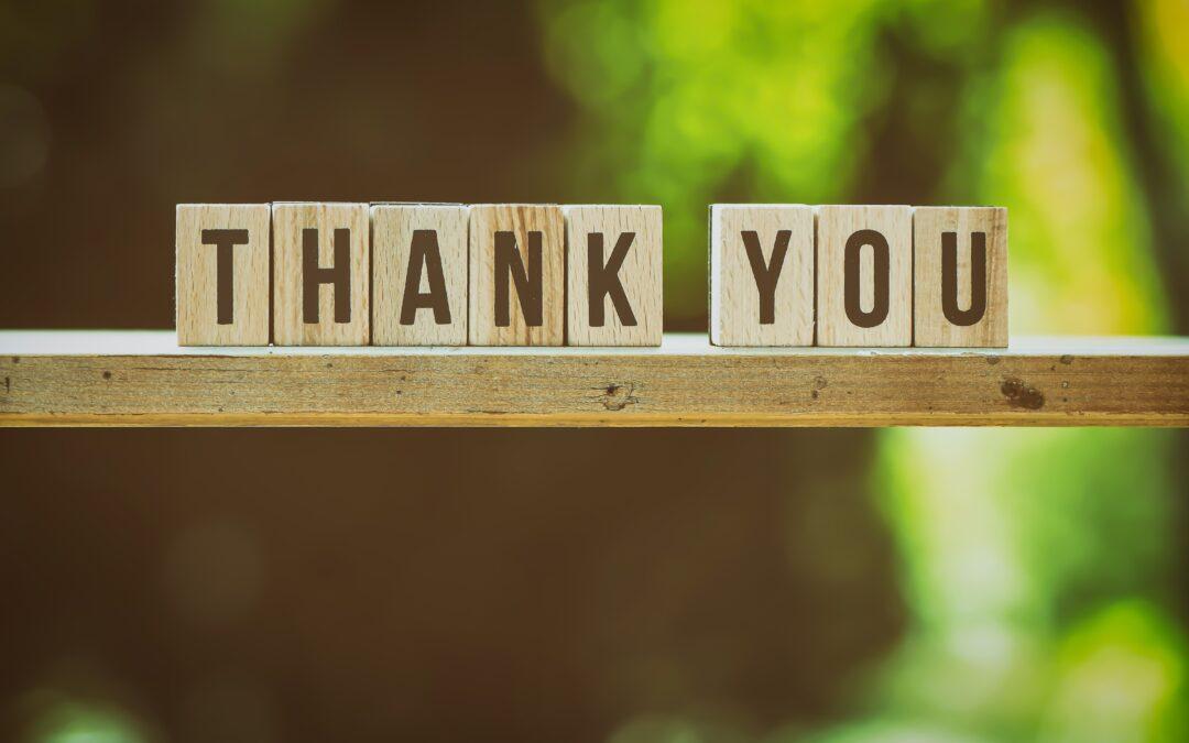 Showing our heartfelt appreciation…